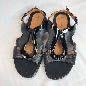 Earthies Women's Arvello Sandals Black Size 9
